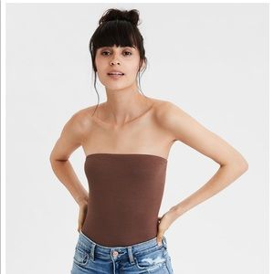 NWOT American Eagle Brown Soft & Sexy Rib Tube Top